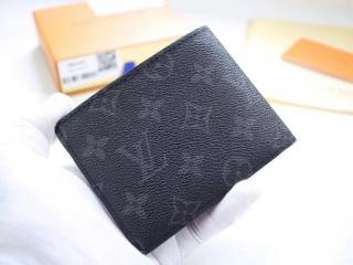 ルイヴィトン モノグラム・エクリプス 財布 スーパーコピー 「LOUIS VUITTON」 ポルトフォイユ・ミュルティプル ヴィトン メンズ 人気 二つ折り財布 M61695