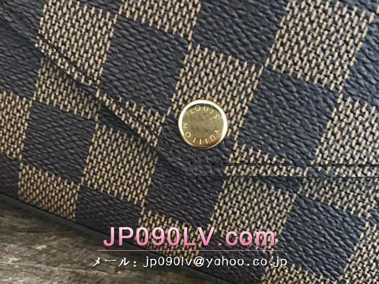 LOUIS VUITTON N63032 ルイヴィトン ダミエ・エベヌ 財布 スーパーコピー ポシェット・フェリーチェ ミニバッグ レディース 2way 長財布