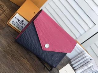 ヴィトン エピ 三つ折り財布 スーパーコピー M62204 「LOUIS VUITTON」 ポルトフォイユ・ヴィクトリーヌ ルイヴィトン レディース 大人気ミニ財布 4色選択可 アンディゴブルー