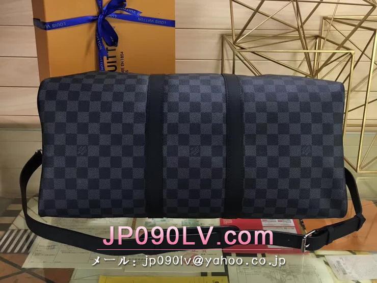 ルイヴィトン ダミエ・グラフィット バッグ スーパーコピー N41057 「LOUIS VUITTON」 キーポル・バンドリエール 45 LVリーグ ヴィトン 新作 ソフトラゲージ ボストンバッグ