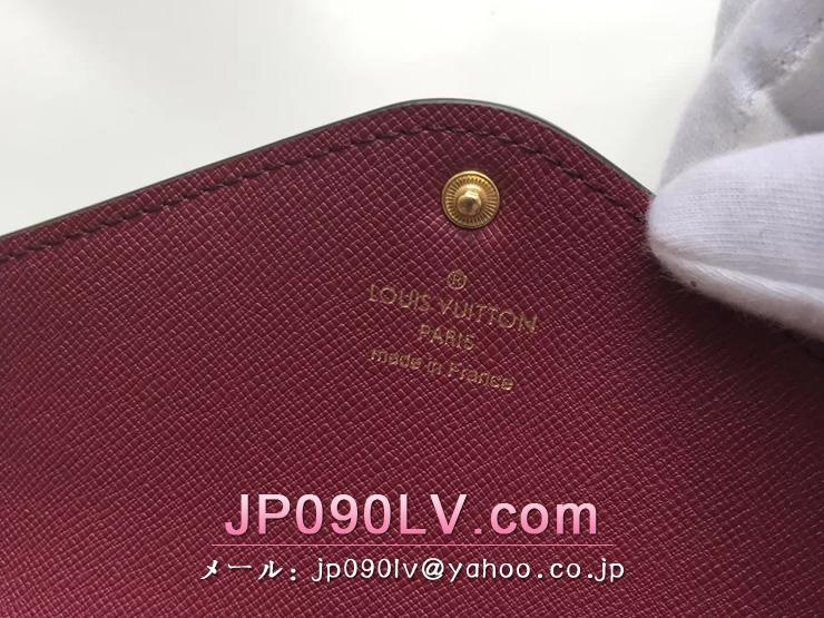 ルイヴィトン モノグラム 財布 コピー M60708 「LOUIS VUITTON」 ポルトフォイユ・ジョセフィーヌ ヴィトン レディース 三つ折り長財布 2色可選択 フューシャ