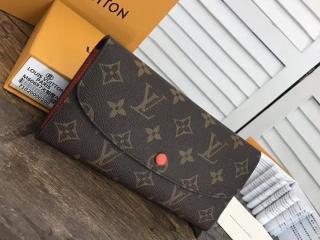 ルイヴィトン モノグラム 長財布 コピー M62011 「LOUIS VUITTON」ポルトフォイユ・エミリー ヴィトン レディース 二つ折り財布 7色 サンライズ