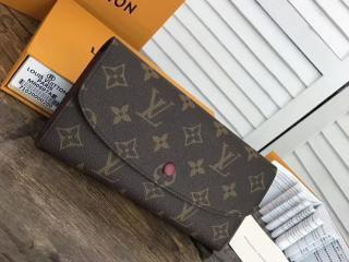 ルイヴィトン モノグラム 二つ折り長財布 コピー M60697 「LOUIS VUITTON」ポルトフォイユ・エミリー ヴィトン レディース 財布&小物 7色 フューシャ