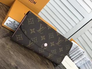 ルイヴィトン モノグラム 二つ折り長財布 スーパーコピー M61289 「LOUIS VUITTON」ポルトフォイユ・エミリー ヴィトン レディース 財布&小物 7色 ローズ・バレリーヌ