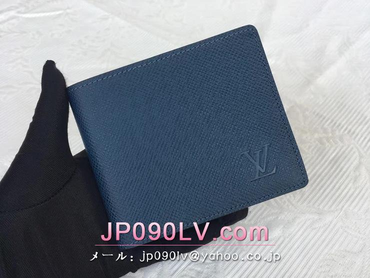 ルイヴィトン タイガ 財布 コピー M32834 「LOUIS VUITTON」 ポルトフォイユ スレンダー メンズ 二つ折り財布 選べる2色 オセアン