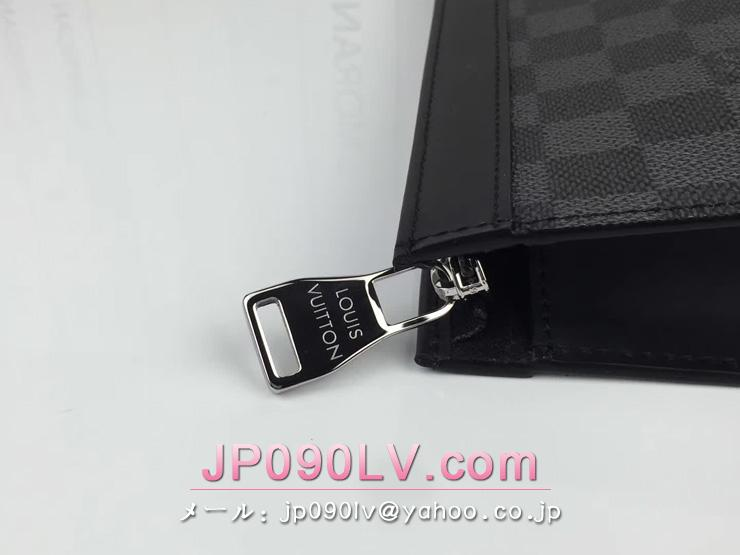 ヴィトン ダミエ・グラフィット バッグ スーパーコピー N41696 「LOUIS VUITTON」 ポシェット・ヴォワヤージュ MM ルイヴィトン メンズ クラッチ&セカンドバッグ