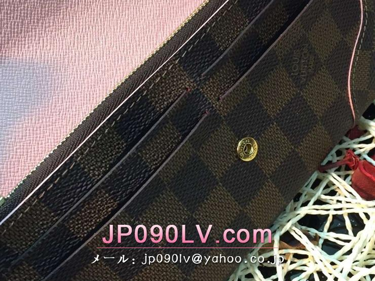 ルイヴィトン ダミエ・エベヌ 長財布 コピー N61227 「LOUIS VUITTON」 ポルトフォイユ・カイサ ヴィトン レディース 人気 二つ折り財布