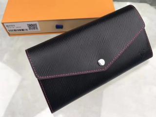ルイヴィトン エピ 長財布 コピー M64322 「LOUIS VUITTON」 ポルトフォイユ・サラ ヴィトン レディース 二つ折り財布 ブラック/ピンク