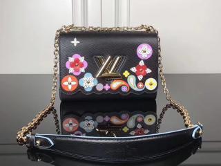 LOUIS VUITTON ルイヴィトン エピ バッグ スーパーコピー M54857 ツイスト MM ポップな花柄 ヴィトン レディース チェーンショルダーバッグ 3色可選択 ブラック