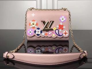 LOUIS VUITTON ルイヴィトン エピ バッグ コピー M54858 ツイスト MM ポップな花柄 ヴィトン レディース チェーンショルダーバッグ 3色可選択 ピンク