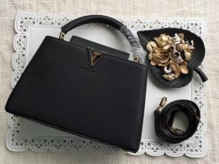ルイヴィトン トリヨン バッグ スーパーコピー M42259 「LOUIS VUITTON」 カプシーヌ PM ハンドバッグ ヴィトン レディース ショルダーバッグ 5色 ノワール&ゴールド金具