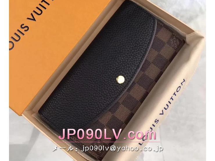 ルイヴィトン ダミエ・エベヌ 長財布 スーパーコピー N61261 「LOUIS VUITTON」 ポルトフォイユ・ノルマンディ ヴィトン トリヨン 二つ折り財布 3色可選択 ノワール
