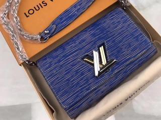 ルイヴィトン エピ 長財布 スーパーコピー M61036 LOUIS VUITTON ポルトフォイユ・ツイスト エピ・デニム ヴィトン レディース チェーン二つ折り財布