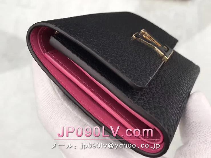 ルイヴィトン トリヨン 財布 コピー M62157 「LOUIS VUITTON」 ポルトフォイユ・カプシーヌ コンパクト ヴィトン レディース 三つ折り財布 3色可選択 ノワール