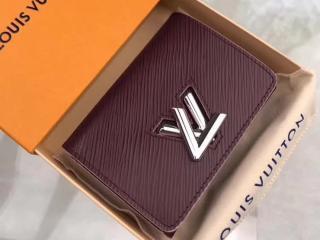 ルイヴィトン エピ 財布 スーパーコピー M67709 「LOUIS VUITTON」 ポルトフォイユ・ツイスト コンパクト ヴィトン レディース 三つ折り財布 4色可選択 プルーヌ