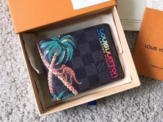 ルイヴィトン ダミエ・コバルト 財布 コピー N62201 「LOUIS VUITTON」 ポルトフォイユ・ミュルティプル ヴィトン メンズ 二つ折り財布