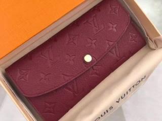 ルイヴィトン モノグラム・アンプラント 財布 コピー M62015 「LOUIS VUITTON」 ポルトフォイユ・エミリー ヴィトン レディース 人気 二つ折り長財布 5色選択可 レザン