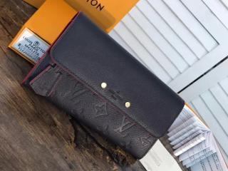 ルイヴィトン モノグラム・アンプラント 財布 スーパーコピー M62127 「LOUIS VUITTON」 ポルトフォイユ・ポンヌフ ヴィトン レディース 二つ折り長財布 3色選択可 マリーヌルージュ