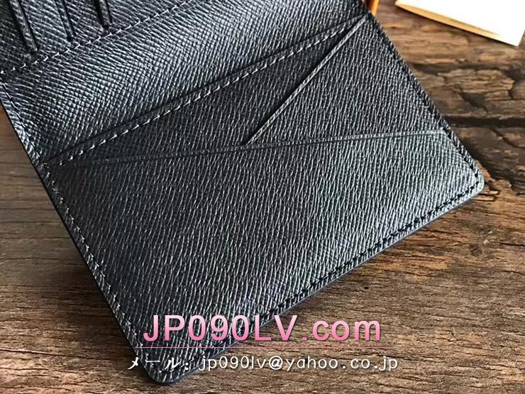 ルイヴィトン モノグラム・インク 財布 コピー M62889 「LOUIS VUITTON」 オーガナイザー・ドゥ ポッシュ ヴィトン メンズ 二つ折り財布
