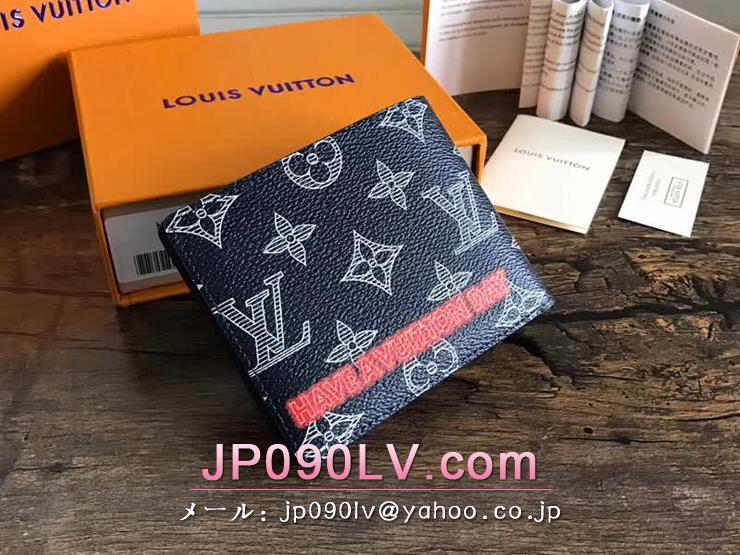 ルイヴィトン モノグラム・インク 財布 コピー M62891 「LOUIS VUITTON」 ポルトフォイユ・ミュルティプル ヴィトン メンズ 二つ折り財布