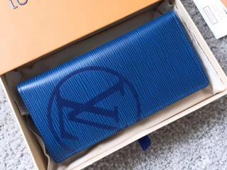 ルイヴィトン エピ 財布 スーパーコピー M63513 「LOUIS VUITTON」 ポルトフォイユ・ブラザ ヴィトン メンズ 二つ折り長財布 2色選択可 ブルーアズール