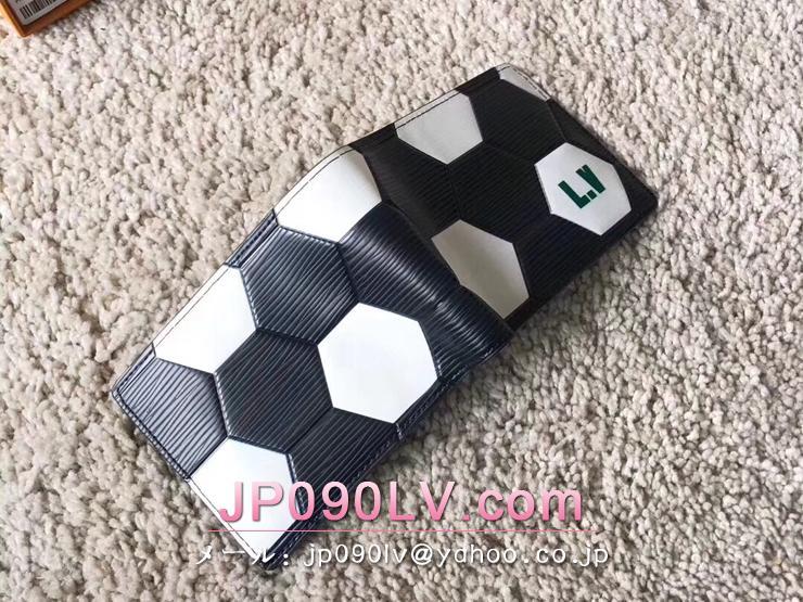 ルイヴィトン エピ 財布 スーパーコピー M63293 「LOUIS VUITTON」 ポルトフォイユ・スレンダー LV 2018FIFAワールドカップ™ メンズ 二つ折り財布 2色選択可 ノワール