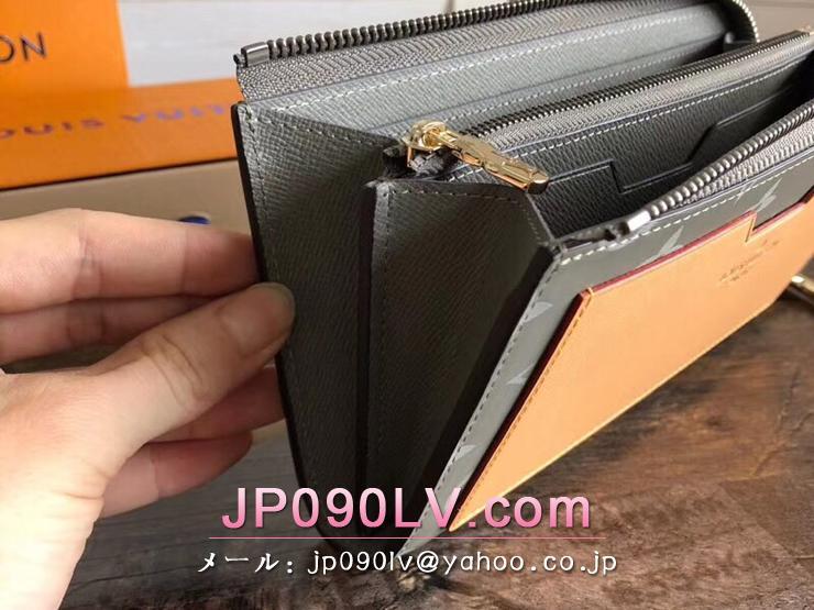 ルイヴィトン モノグラム・チタニウム 財布 コピー M63237 「LOUIS VUITTON」 ポルトフォイユ・コスモス ヴィトン メンズ ラウンドファスナー財布