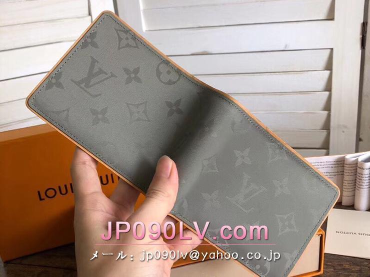 ルイヴィトン モノグラム・チタニウム 財布 スーパーコピー M63297 「LOUIS VUITTON」 ポルトフォイユ・ミュルティプル ヴィトン メンズ 二つ折り財布