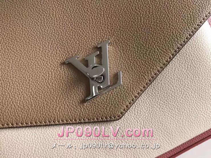 ルイヴィトン ハンドバッグ コピー M53506 マイロックミー 「LOUIS VUITTON」 LockMe トリヨンレザー ヴィトン レディース ショルダーバッグ2WAY 6色可選択 ヴューローズ・セサミ・クレーム