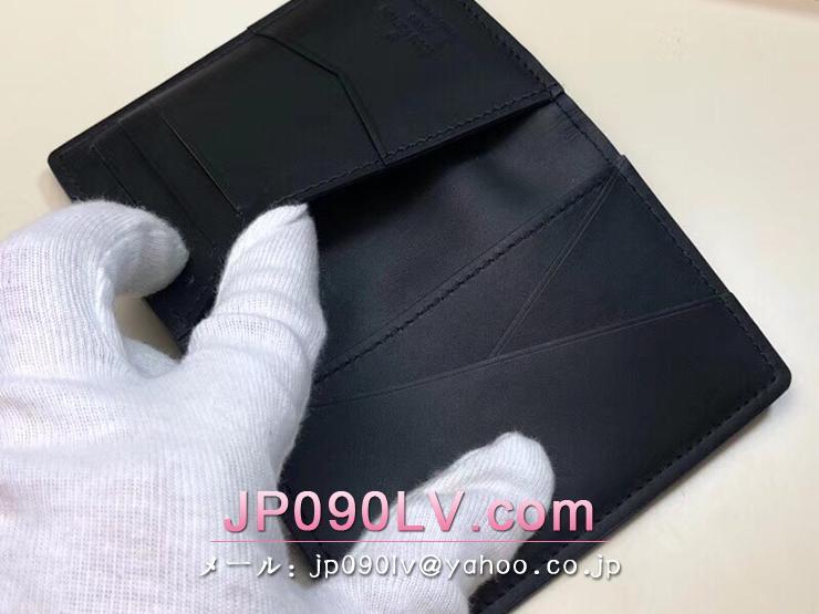 ルイヴィトン ダーク・アンフィニティ 財布 コピー M63251 「LOUIS VUITTON」 オーガナイザー・ドゥ ポッシュ ヴィトン メンズ 二つ折り財布