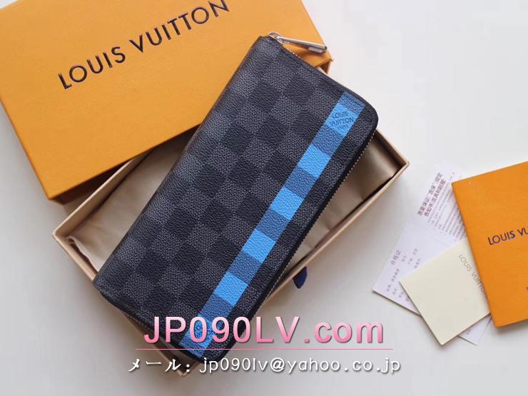 ルイヴィトン ダミエ・グラフィット 長財布 スーパーコピー N60078 「LOUIS VUITTON」 ジッピー・ウォレット ヴェルティカル ヴィトン メンズ ラウンドファスナー財布