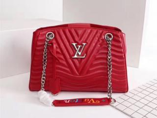 LOUIS VUITTON S級品 ルイヴィトン バッグ コピー M51497-S チェーントート カーフレザー レディースバッグ 5色可選択 レッド