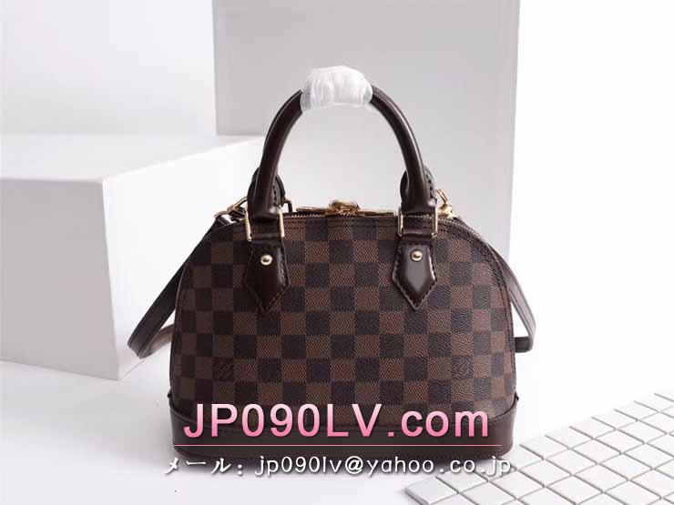 LOUIS VUITTON S級品 ルイヴィトン バッグ コピー N41221-S アルマ BB ダミエ・エベヌ レディースバッグ