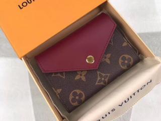 ルイヴィトン モノグラム 財布 スーパーコピー M62932 「LOUIS VUITTON」 ポルトフォイユ・ゾエ ヴィトン レディース 三つ折り財布 3色可選択 フューシャ