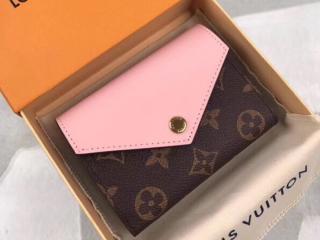 ルイヴィトン モノグラム 財布 コピー M62933 「LOUIS VUITTON」 ポルトフォイユ・ゾエ ヴィトン レディース 三つ折り財布 3色可選択 ローズ・バレリーヌ