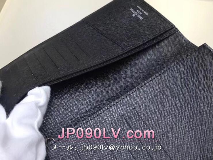 ルイヴィトン タイガ 長財布 スーパーコピー M30501 「LOUIS VUITTON」 ポルトフォイユ・ブラザ ヴィトン メンズ 二つ折り財布 2色可選択 ノワール