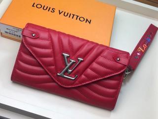 ルイ・ヴィトン 長財布 コピー M63299 「LOUIS VUITTON」 ニューウェーブ ロング・ウォレット レディース 二つ折り財布 4色可選択 レッド