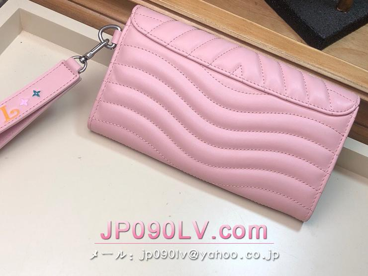 ルイ・ヴィトン 長財布 スーパーコピー M63729 「LOUIS VUITTON」 ニューウェーブ ロング・ウォレット レディース 二つ折り財布 4色可選択 ピンク