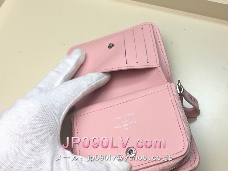 ルイ・ヴィトン 財布 コピー M63791 「LOUIS VUITTON」 ニューウェーブ ジプト・コンパクト・ウォレット レディース 二つ折り財布 3色可選択 ピンク