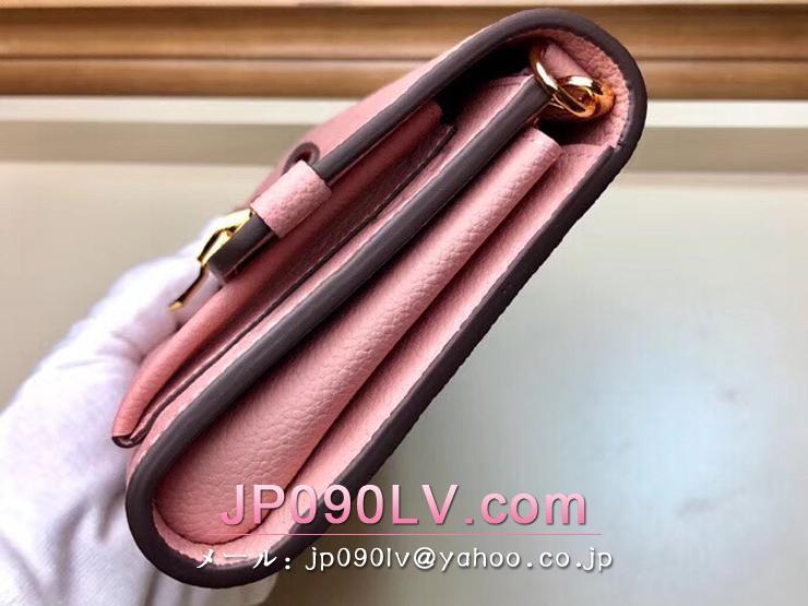 ルイヴィトン モノグラム・アンプラント 長財布 コピー M63399 「LOUIS VUITTON」 チェーン・ウォレット レディース 二つ折り財布 2色可選択 ローズパウダー