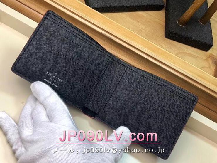 ルイヴィトン ダミエ・グラフィット 財布 コピー N60097 「LOUIS VUITTON」 ポルトフォイユ・ミュルティプル メンズ 二つ折り財布