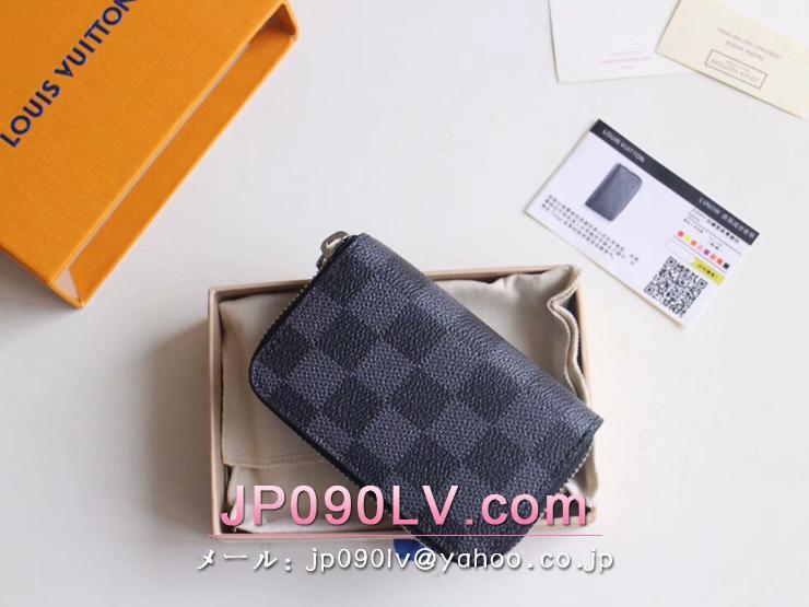 ルイヴィトン ダミエ・グラフィット 財布 スーパーコピー N63076 「LOUIS VUITTON」 ジッピー・コイン パース メンズ ラウンドファスナー財布