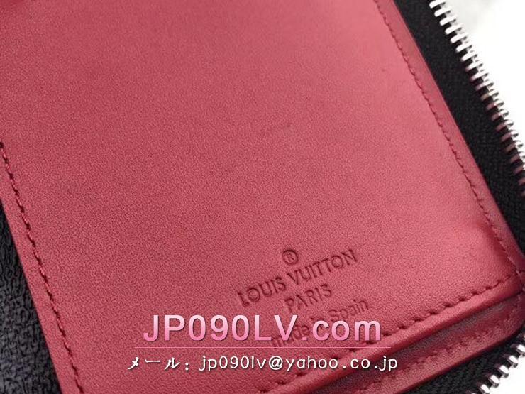 ルイヴィトン ダミエ・グラフィット 長財布 スーパーコピー N63304 「LOUIS VUITTON」 ジッピーウォレット・ヴェルティカル メンズ ラウンドファスナー財布