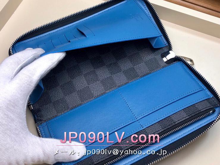 ルイヴィトン ダミエ・グラフィット 長財布 コピー N64436 「LOUIS VUITTON」 ジッピーウォレット・ヴェルティカル メンズ ラウンドファスナー財布