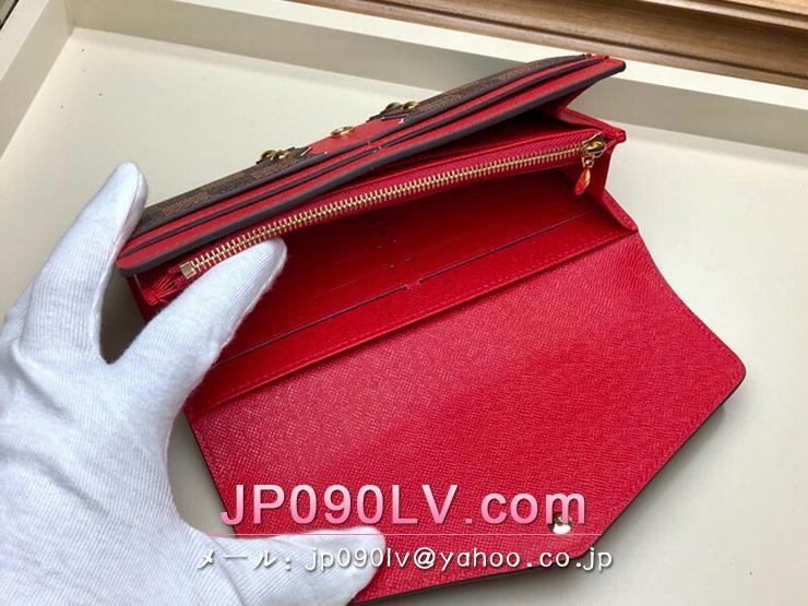 ルイヴィトン ダミエ・エベヌ 長財布 スーパーコピー N60151 「LOUIS VUITTON」 ポルトフォイユ・サラ レディース 二つ折り財布