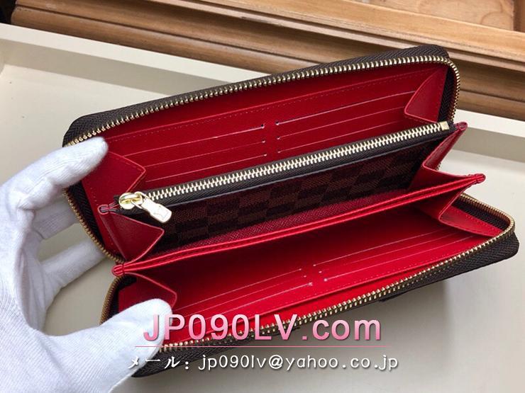 N60145 ルイヴィトン ダミエ・エベヌ 長財布 コピー 「LOUIS VUITTON」 ジッピー・ウォレット レディース ラウンドファスナー財布