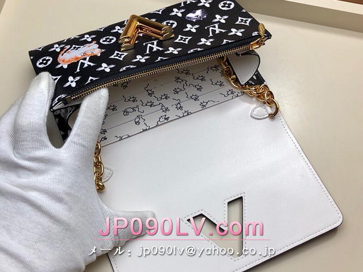 ルイヴィトン モノグラム 長財布 コピー M63888 「LOUIS VUITTON」 ポルトフォイユ・ツイスト チェーン レディース 二つ折り財布