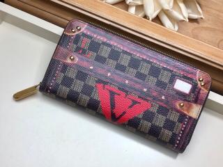 ルイヴィトン 長財布 コピー M63490 「LOUIS VUITTON」 ジッピー・ウォレット その他キャンバス レディース ラウンドファスナー財布