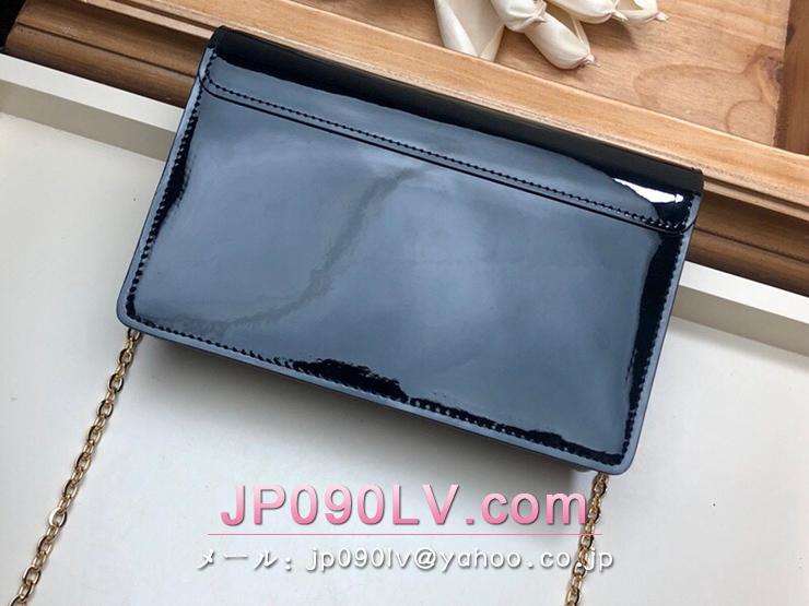 ルイヴィトン モノグラム 長財布 スーパーコピー M63305 「LOUIS VUITTON」 ポルトフォイユ・チェリーウッド チェーン レディース パテントカーフ 二つ折り財布 2色可選択 ノワール