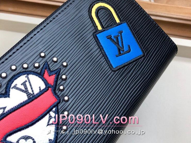 ルイヴィトン エピ 長財布 スーパーコピー M63376 「LOUIS VUITTON」 ジッピー・ウォレット レディース ラウンドファスナー財布 2色可選択 ノワール